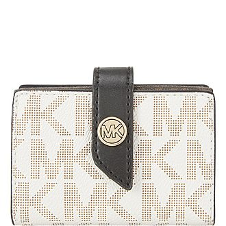 Monogram Print Coated Canvas Wallet
