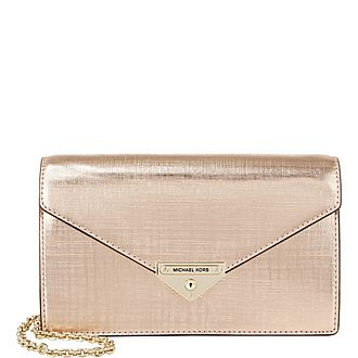 Grace Medium Metallic Envelope Clutch