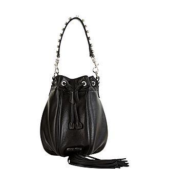 Crystal Strap Bucket Bag