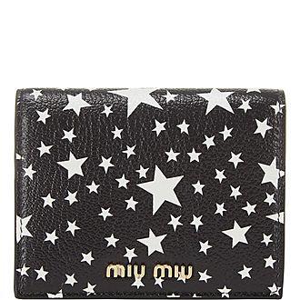 Star Print Billfold Wallet