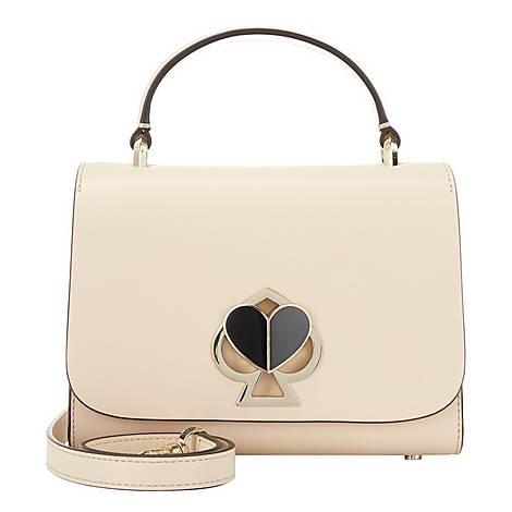 Nicola Twistlock Small Crossbody Bag, ${color}