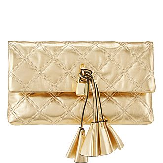 Quilted Metallic Clutch