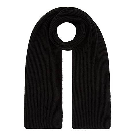 Cashmere Ribbed Scarf, ${color}