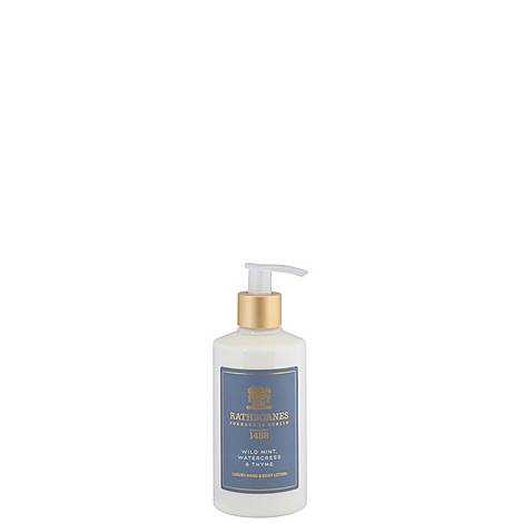 Mint, Watercress and Thyme Luxury Hand and Body Lotion, ${color}