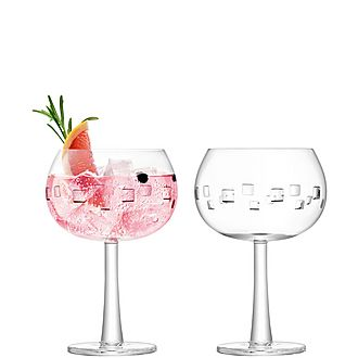 Set of Two Square Cut Gin Balloons