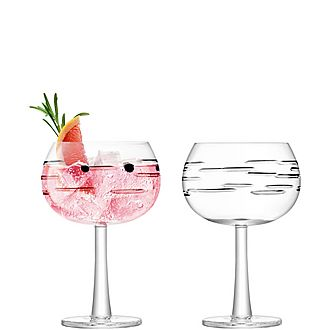 Set of Two Line Cut Gin Balloons