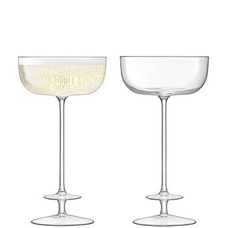 Set of Two Tier Champagne Saucers