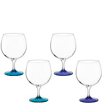 Set of Four Coro Balloon Glasses
