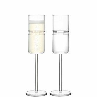 Set of Two Horizon Champagne Flutes