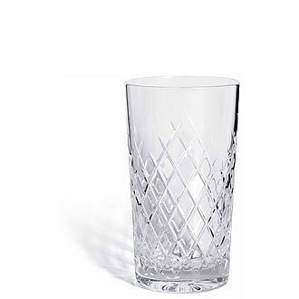 Barwell Cut Crystal Highball Glass Set of Two