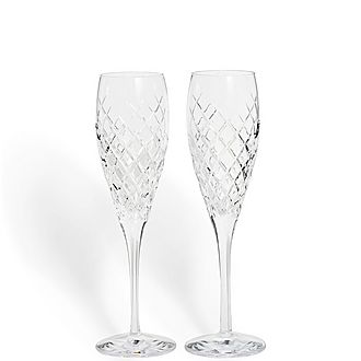 Set of Two Barwell Champagne Flutes