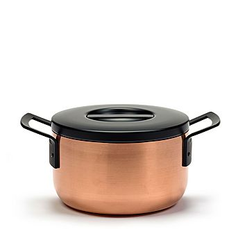 Copper Casserole Dish With Lid 24cm
