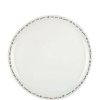 Poetry Dinner Plate