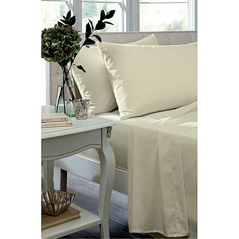 Percale 200 Thread Count Fitted Sheet, ${color}