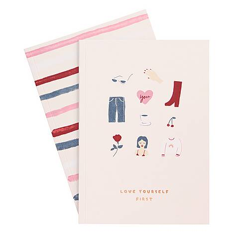 A5 Essentials Notebook 2 Pack, ${color}