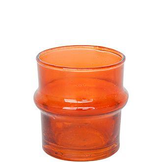 Recycled Handmade Glass Tea Light Holder