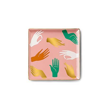 Hamsa Ceramic Tray, ${color}
