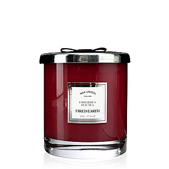 Fired Earth Emperor's Red Tea Candle 490g