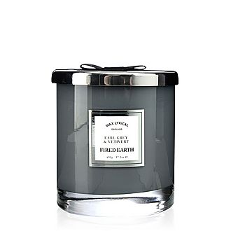 Fired Earth Earl Grey and Vetiver Candle 490g