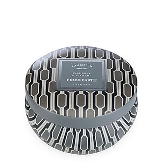 Fired Earth Earl Grey and Vetiver Candle Tin