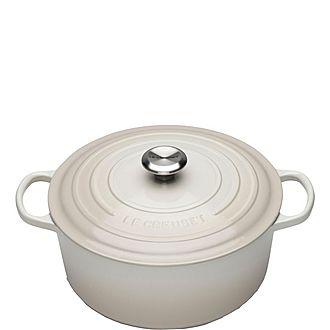 Signature Cast Iron Round Casserole 28cm Meringue