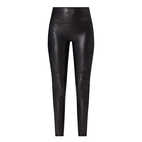 Faux Leather Quilted Leggings, ${color}