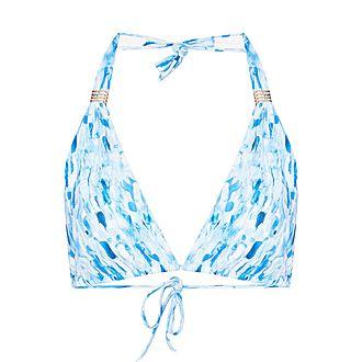 Grenada Tie-Dye Print Bikini Top