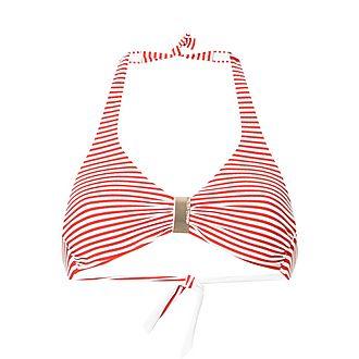 Provence Stripe Halterneck Bikini Top