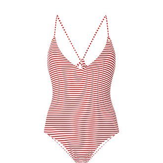 Catalina Stripe Halterneck Swimsuit