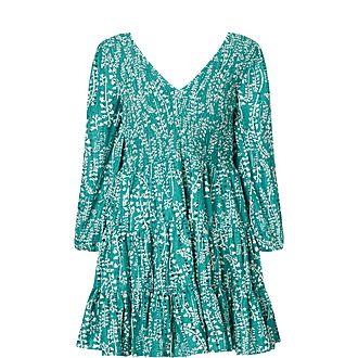 Sasha Floral Print Cotton Mini Dress