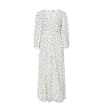 Blair Star Print Broderie Cotton Maxi Dress