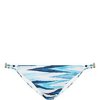 Mitsio Kaoba Printed Triangle Bikini Briefs