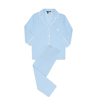Check Print Cotton Poplin Pyjama Set