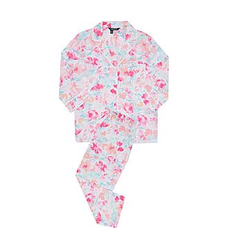 Floral Print Cotton Poplin Pyjama Set
