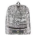 Snakeskin Print Backpack, ${color}