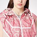 Snake Print Sleeveless Shell Jacket, ${color}