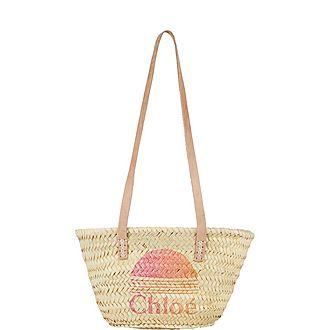 Logo Basket Bag