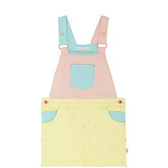 Colour Block Pinafore Dress