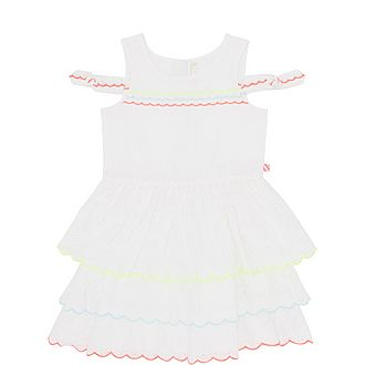 Broderie Lace Cotton Tiered Dress