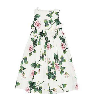 Sleeveless Rose Print Dress