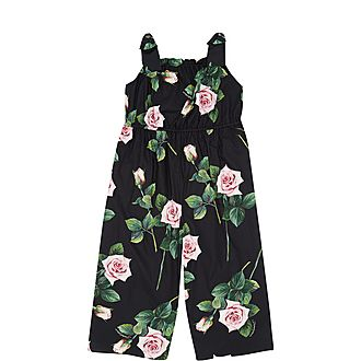 Rose Print Jumpsuit