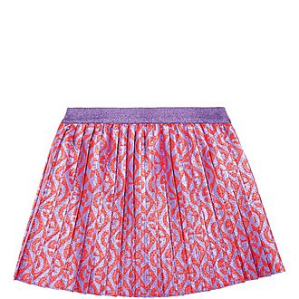 G Rhombus Print Skirt