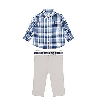 Two-Piece Shirt and Chino Set