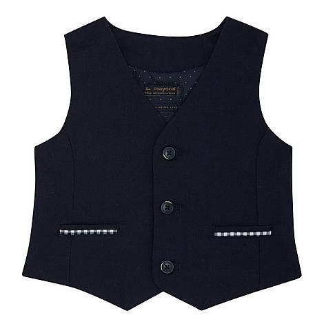 Checked Linen Waistcoat, ${color}