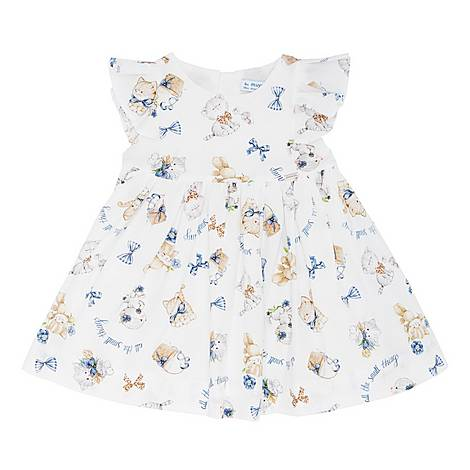 Kitten Print Dress, ${color}