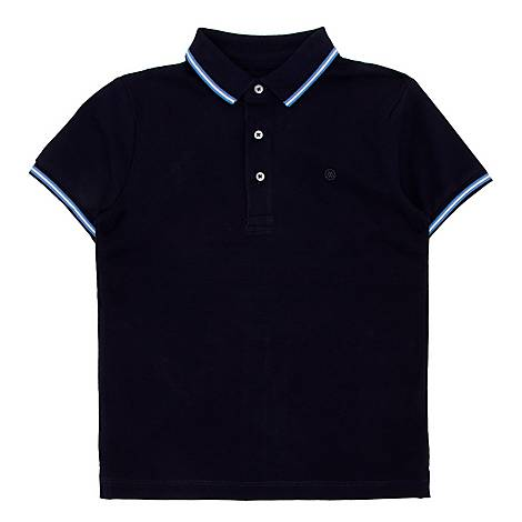 Contrast Detail Polo T-shirt, ${color}