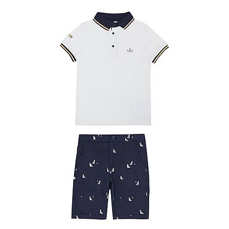 Two-Piece Polo Shirt & Shorts, ${color}