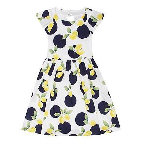 Lemon Print Dress , ${color}