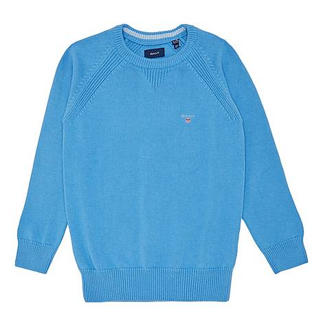 Casual Crew Neck Sweater, ${color}