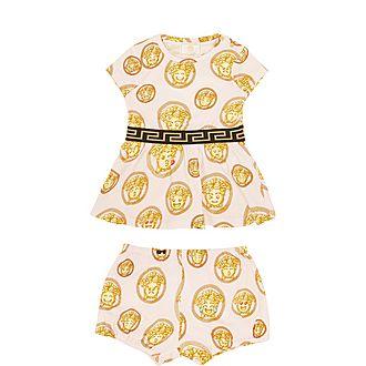 Medusa Emoji Print Dress